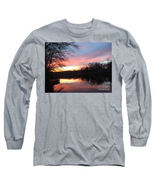 Fire On The Water Long Sleeve T-Shirt by Jason Nicholas