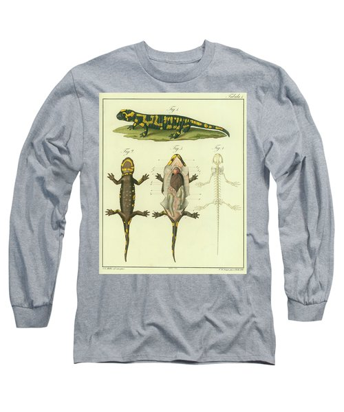 Fire Salamander Anatomy Long Sleeve T-Shirt by Christian Leopold Mueller