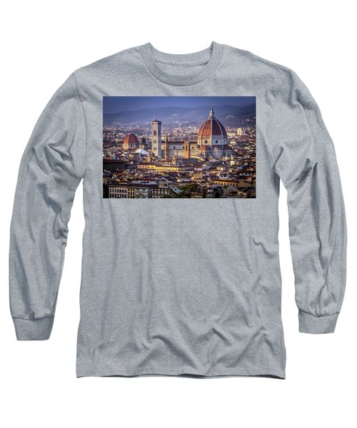Firenze E Il Duomo Long Sleeve T-Shirt by Sonny Marcyan