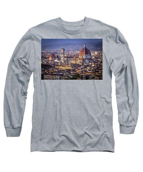 Firenze E Il Duomo Long Sleeve T-Shirt by Sonny Marcyan