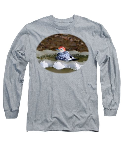 Long Sleeve T-Shirt featuring the photograph First Bath by Sue Melvin
