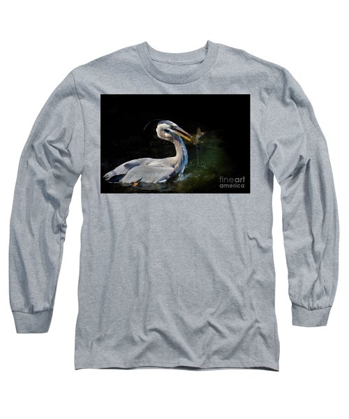 First Catch Of The Day Long Sleeve T-Shirt by Pamela Blizzard