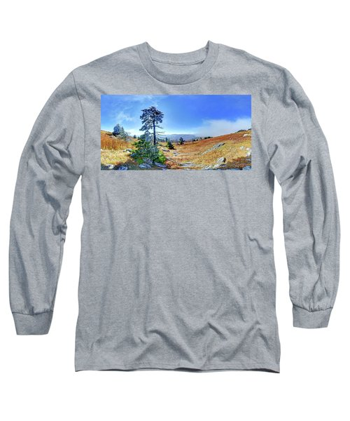 Long Sleeve T-Shirt featuring the photograph First Light Snow by George Randy Bass
