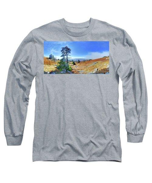 First Light Snow Long Sleeve T-Shirt by George Randy Bass