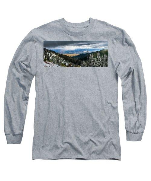 First Snow, Jackson From Teton Pass Long Sleeve T-Shirt