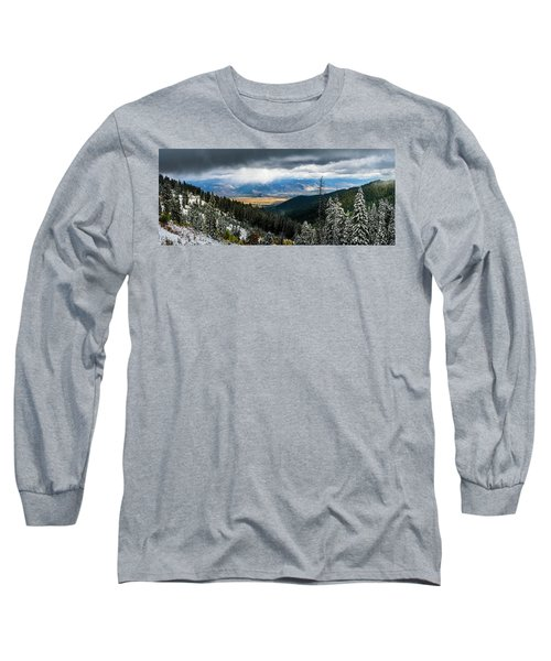 First Snow, Jackson From Teton Pass Long Sleeve T-Shirt