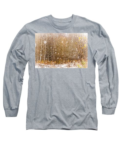 First Snow. Snow Flakes I Long Sleeve T-Shirt