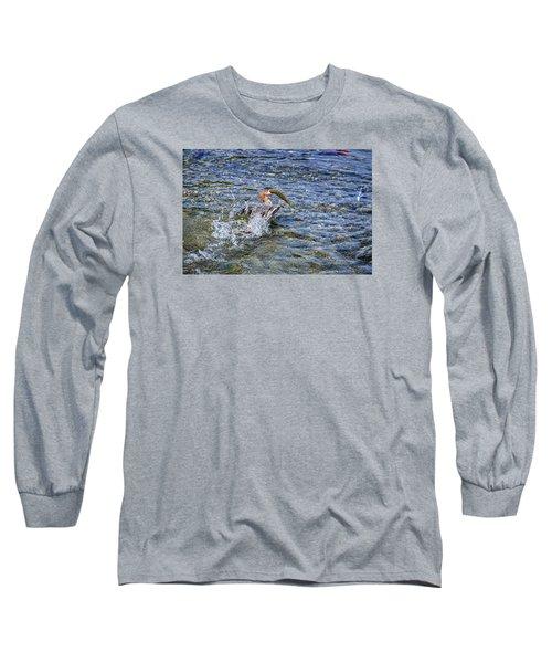 Long Sleeve T-Shirt featuring the photograph Fish Gulp by David Lawson