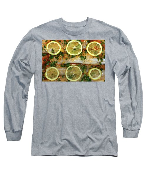 Long Sleeve T-Shirt featuring the photograph Fish With Lemon And Coriander By Kaye Menner by Kaye Menner