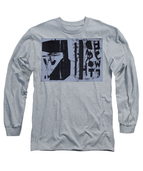 Fisher Covers Reverse White On Black Long Sleeve T-Shirt