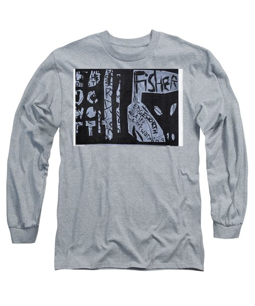 Fisher Covers White On Black Long Sleeve T-Shirt