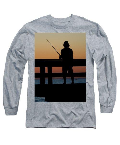 Fisherman Mount Sinai New York Long Sleeve T-Shirt by Bob Savage