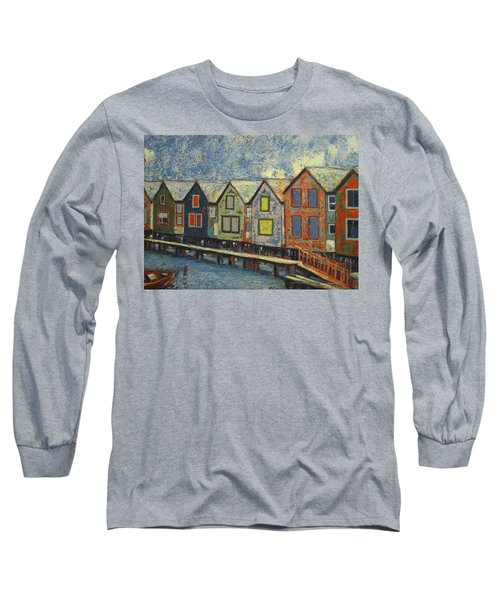 Fishermen Huts Long Sleeve T-Shirt by Walter Casaravilla