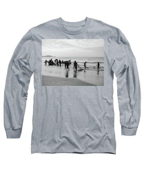 Fishermen In Florianopolis, Brazil Long Sleeve T-Shirt