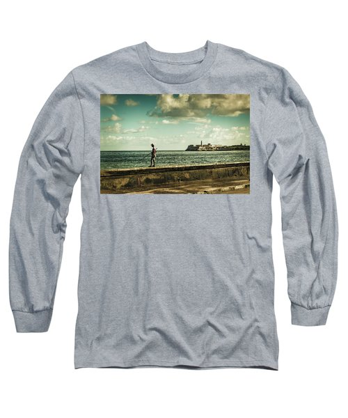 Fishing Along The Malecon Long Sleeve T-Shirt
