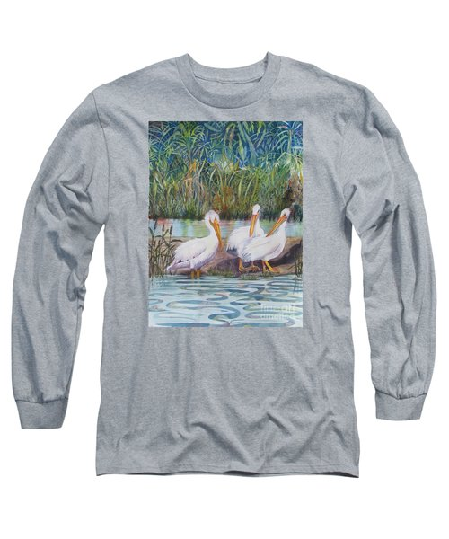 Fishing Around Long Sleeve T-Shirt by Martha Ayotte