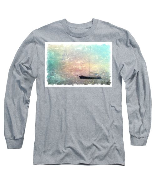 Fishing Boat In The Morning Long Sleeve T-Shirt