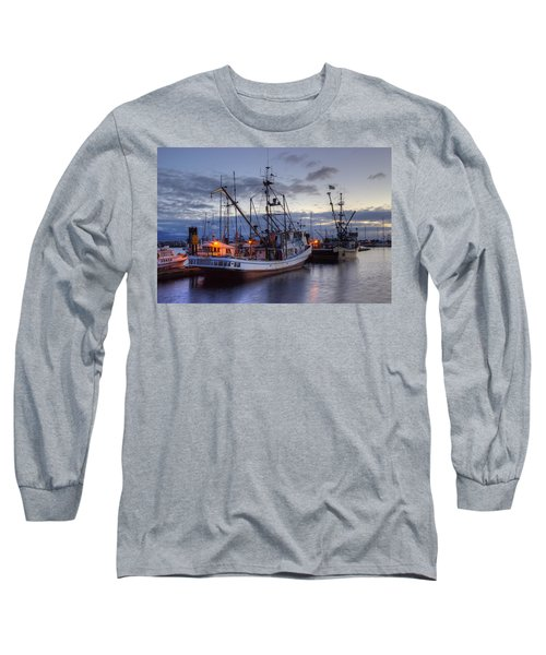 Fishing Fleet Long Sleeve T-Shirt by Randy Hall