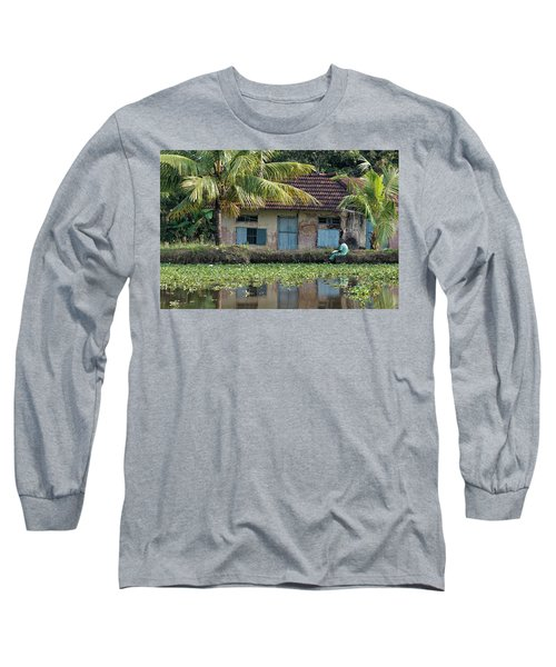 Long Sleeve T-Shirt featuring the photograph Fishing by Marion Galt