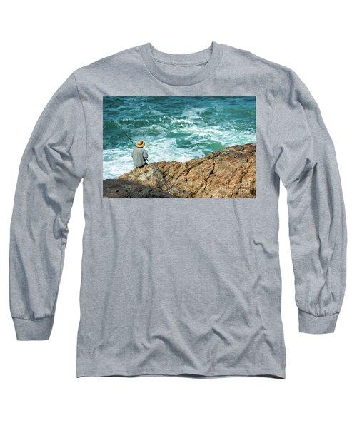 Fishing On Mutton Bird Island Long Sleeve T-Shirt