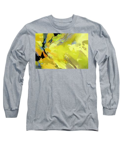 Long Sleeve T-Shirt featuring the painting Fissures Of Time by Rae Andrews