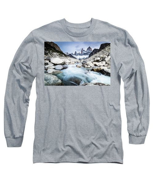 Fitz Roy On A Cloudy Day  Long Sleeve T-Shirt