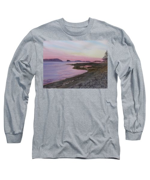 Long Sleeve T-Shirt featuring the painting Five Islands - Bay Of Fundy by Joel Deutsch