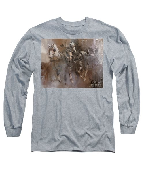 Fjords On The Run Long Sleeve T-Shirt by Kathy Russell