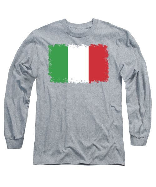 Long Sleeve T-Shirt featuring the digital art Flag Of Italy by Bruce Stanfield