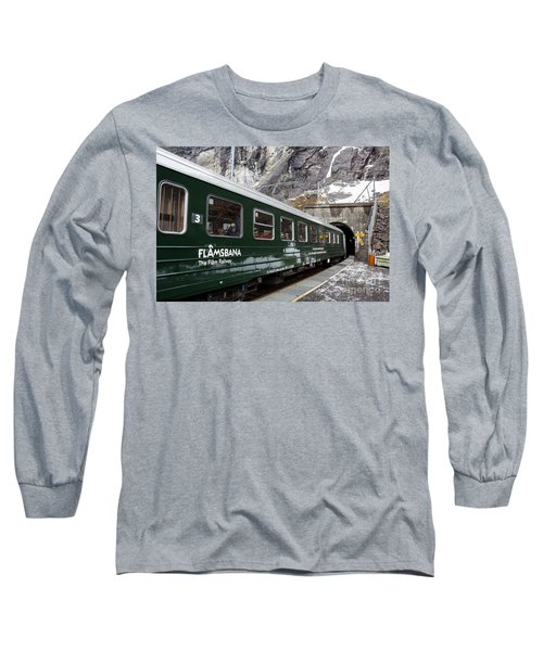 Flam Railway Long Sleeve T-Shirt by Suzanne Luft