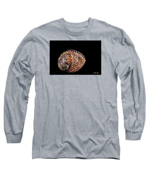 Flame Abalone Long Sleeve T-Shirt by Rikk Flohr