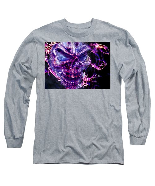 Flaming Skull Long Sleeve T-Shirt