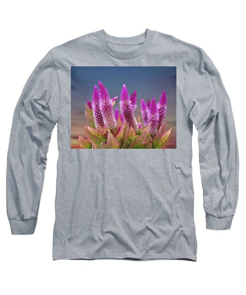 Flamingo Feather  Long Sleeve T-Shirt