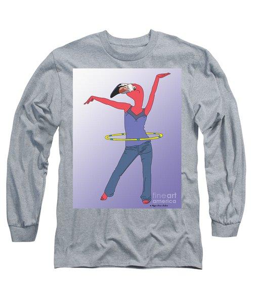 Flamingo Hoop Long Sleeve T-Shirt