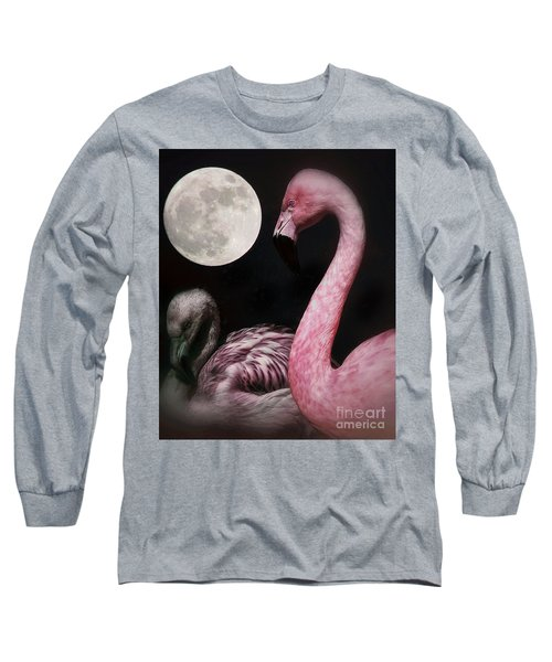 Flamingo Moon  Long Sleeve T-Shirt