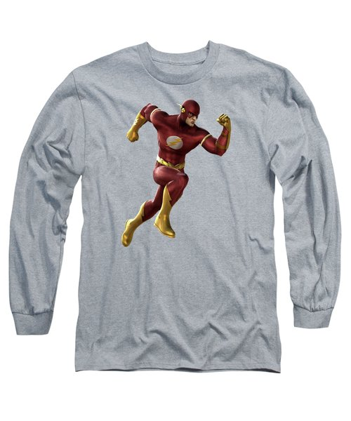 Long Sleeve T-Shirt featuring the mixed media Flash Splash Super Hero Series by Movie Poster Prints