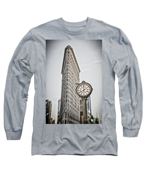 Long Sleeve T-Shirt featuring the photograph Flat Iron Building by Juergen Held