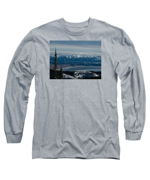 Flathead Valley In The Winter Long Sleeve T-Shirt