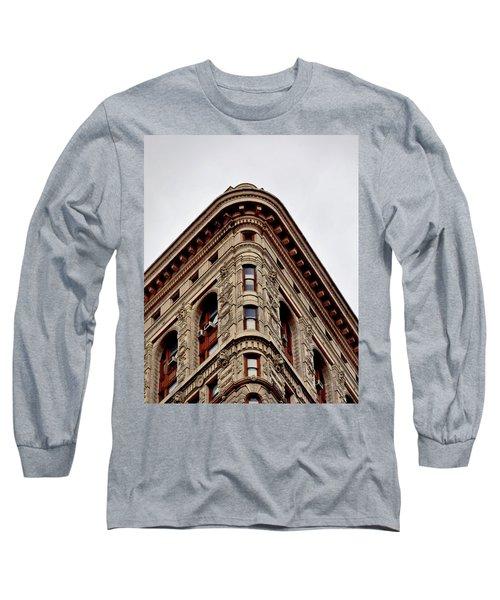 Flatiron Building Detail Long Sleeve T-Shirt