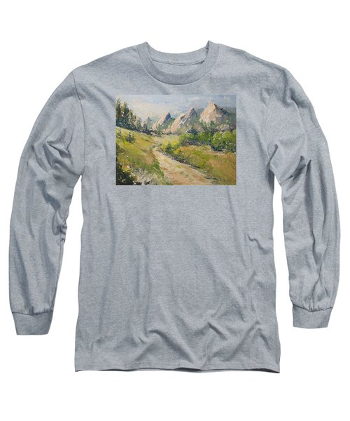 Flatirons In The Rockies Long Sleeve T-Shirt