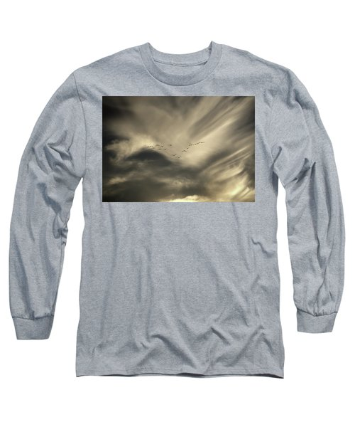 Long Sleeve T-Shirt featuring the photograph Flight 016 Westbound by Robert Geary