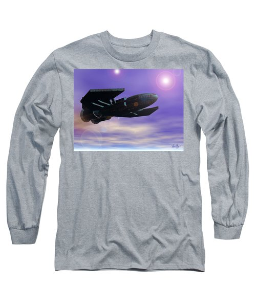 Long Sleeve T-Shirt featuring the digital art Flight Of The 501st Phoenix by Curtiss Shaffer