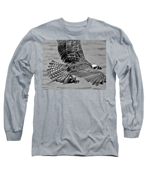 Flight Of The Osprey Bw Long Sleeve T-Shirt