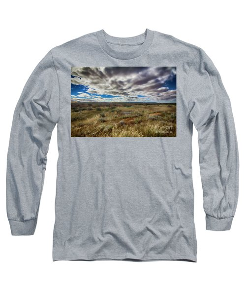 Flinders Ranges Fields  Long Sleeve T-Shirt by Douglas Barnard