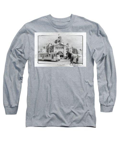 Flinders Street Station, Melbourne Long Sleeve T-Shirt