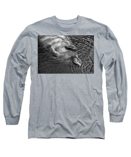 Floating Manatee Long Sleeve T-Shirt