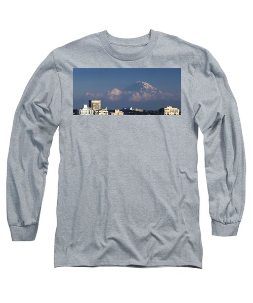Floating Mountain Long Sleeve T-Shirt by Ed Clark