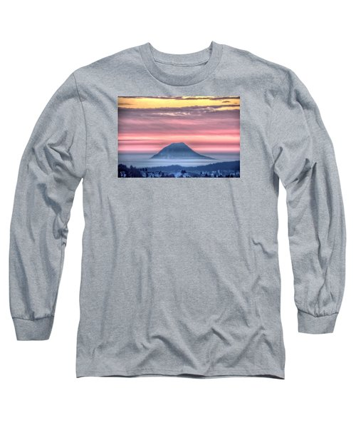 Floating Mountain Long Sleeve T-Shirt by Fiskr Larsen