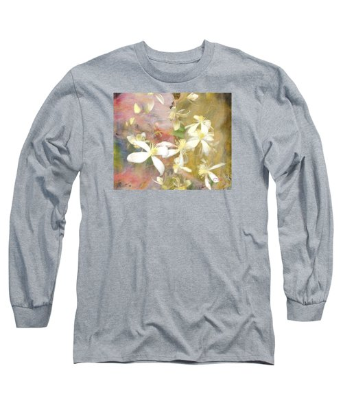 Floating Petals Long Sleeve T-Shirt by Colleen Taylor