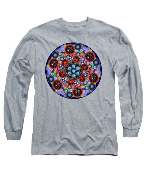 Flora Viscera Mandala Long Sleeve T-Shirt by Iowan Stone-Flowers